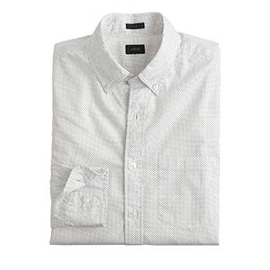 1-Slim Secret Wash Shirt In Pindot by J.Crew