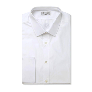 2-White Slim-fit Cotton Shirt by Charvet
