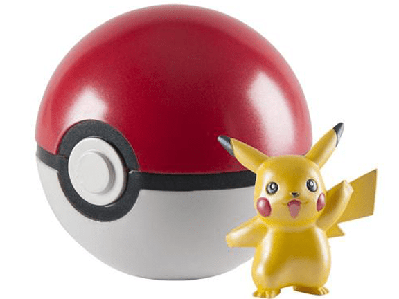 Toy-Action Figure-Pokemon 20th Anniversary 2 Clip n Carry Poke Ball Action Figure Pikachu.png