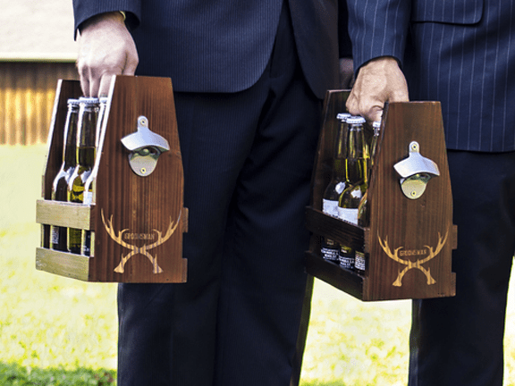 Carrier-Beer Carrier-Groomsman Antlers Rustic Craft Beer Carrier with Bottle Opener.png