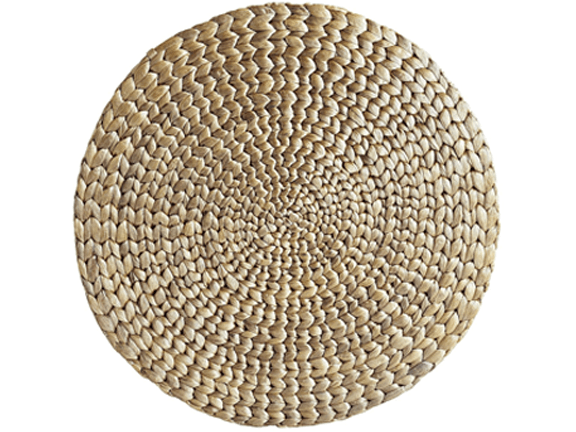 Placemat-Woven-Woven Water Hyacinth Round Metallic Placemat.png