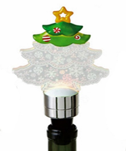 Christmas Tree Lighted Wine Bottle Stopper
