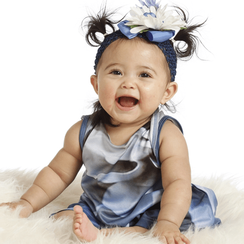 KidCuteTure | Baby Caroline Romper Skort in Riviera