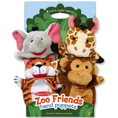 Melissa & Doug-Zoo Friends Hand Puppets