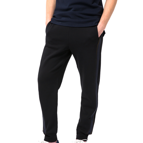 Paul Smith-Black Loopback-Cotton Sweatpants