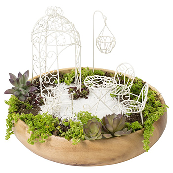 Fairy Six-piece Garden Furniture Set by Hi-Line Gift with white background
