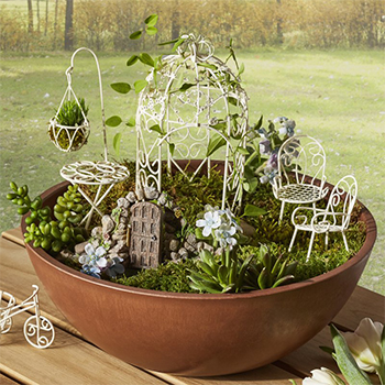 Fairy Six-piece Garden Furniture Set by Hi-Line Gift