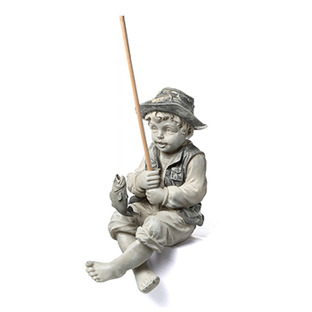 The Little Fisherman by Design Toscano with white background