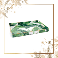 Dormify Rectangle Banana Leaf Tray