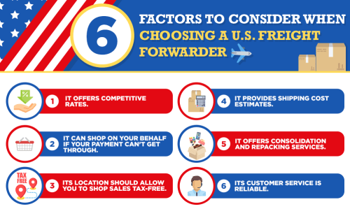 6 Factors to Consider When Choosing a US Freight Forwarder
