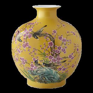 William Sonoma Hummingbird Ginger Jar Pom Vase