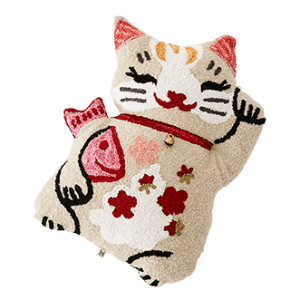 Urban Outfitters Lucky Cat Throw Pillow