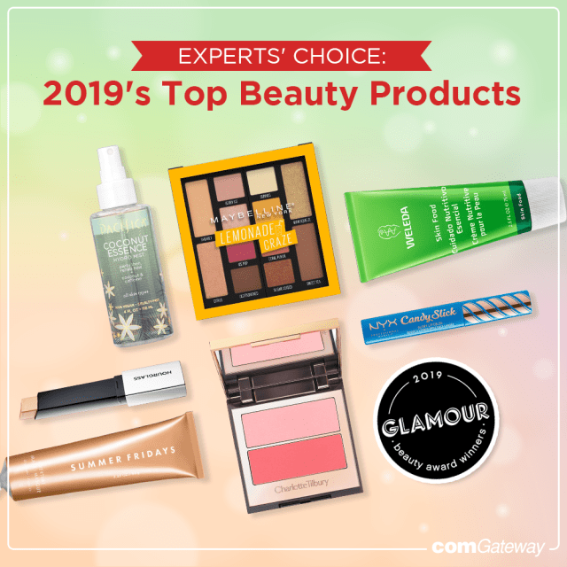 Some of Glamour Beauty Awards 2019 winning products