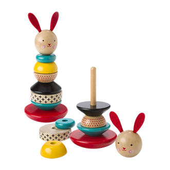 Wooden Stacking Bunny Toy