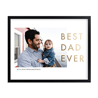 Minted Best Dad Ever Photo Art