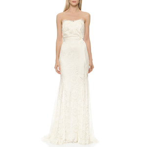 Theia Sweetheart Strapless Lace Gown from Shopbop