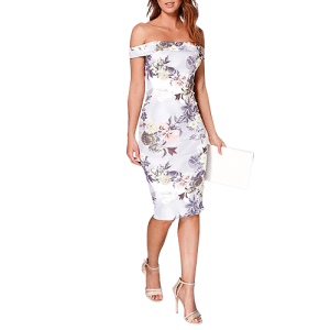 Off The Shoulder Floral Midi Dress from Boohoo