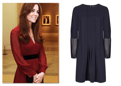 Royal fashion: Kate Middleton in Reiss dress