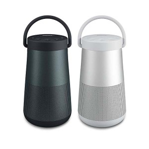 Bose Soundlink Revolve+ bluetooth speakers in black and silver