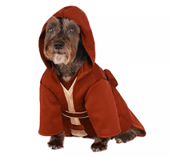 Dog Halloween costume- Star Wars Jedi robe