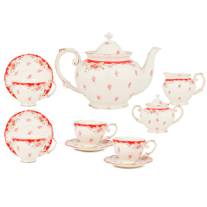 Ophelia & Co. Kratzer Rose Red Tea Set