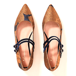 Anthropologie Abbott Double Strap Flats