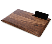 Southern Living Acacia Wood iPad Stand Cutting Board
