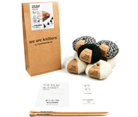 We Are Knitters The Kilim Blanket - Knitting Kit