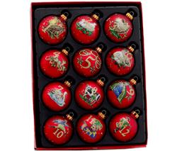 Kurt Adler Christmas Decorative Glass Balls Set