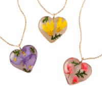 Uncommon Goods Birth Month Flower Heart Necklace