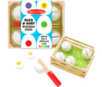 Melissa and Doug Slice & Sort Wooden Eggs