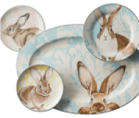 Damask Bunny Dinnerware Collection