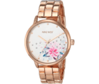 Nine West Crystal Accented Bracelet Watch