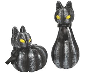 Piece Pumpkin Cat Decorations