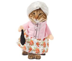 Front Walking Granny Pet Costume