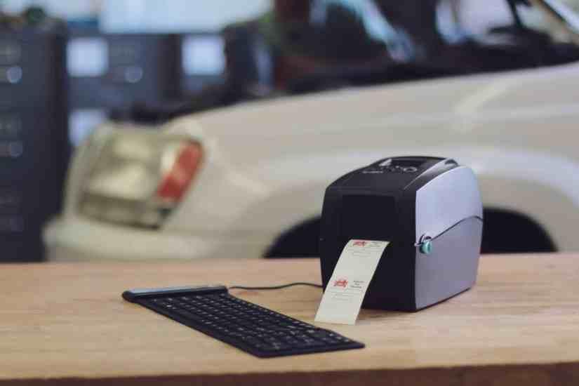 Oilabel Godex Oil Change Sticker Printer