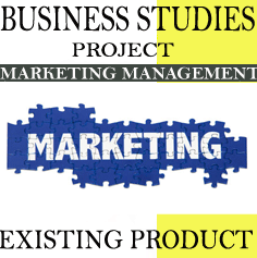 Business Studies Project-on Marketing Management on existing product