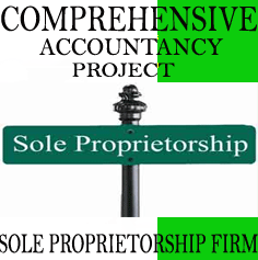 Comprehensive Accountancy Project on Sole Proprietorship firm