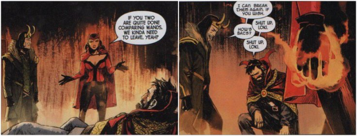 Man, this was a great team up in the comics  (Even though that wasn't the real Loki and Wanda, but whatever)