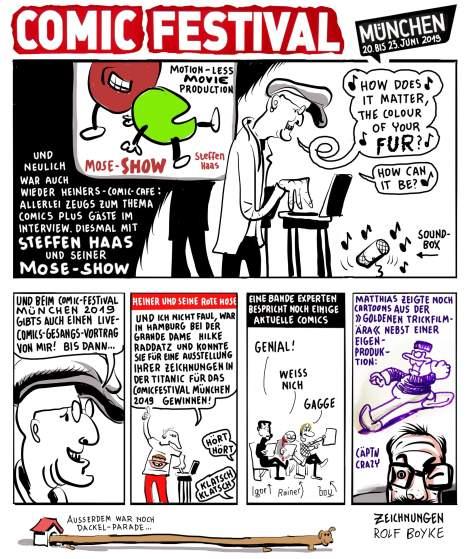 Bilder vom Comic Café vom 31.03.2019