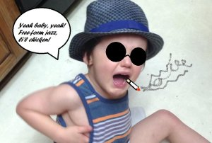 I took this picture of my son being livid and made him into a Kool Kat.