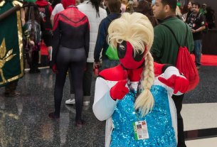 Deadpool as Elsa, Queen of Arendelle