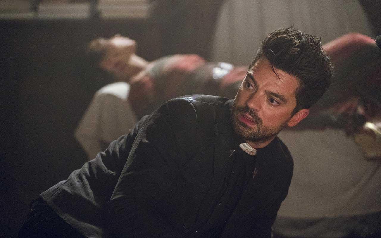 Dominic Cooper as Jesse Custer, Ruth Negga as Tulip O'Hare - Preacher _ Season 3, Episode 1 - Photo Credit: Alfonso Bresciani/AMC/Sony Pictures Television