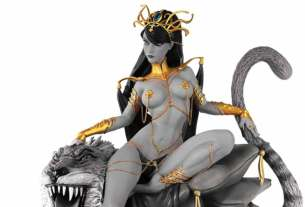 WOMEN OF DYNAMITE DEJAH THORIS J. SCOTT CAMPBELL INSPIRED DIORAMA BLACK & WHITE EDITION STATUE