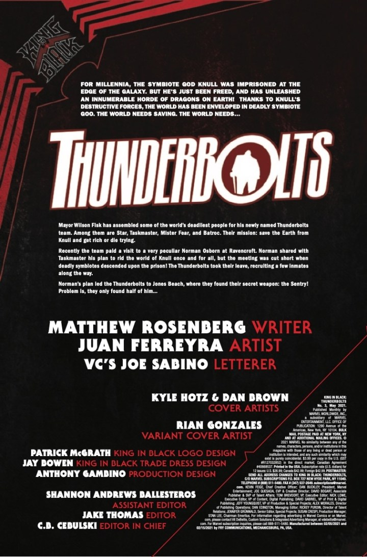 King in Black: Thunderbolts #3 P1