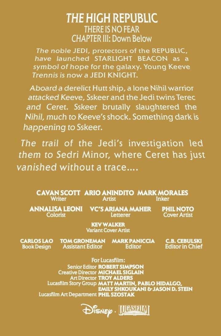 Star Wars: High Republic #3 pic 1