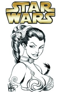Star Wars #1 Dynamic Forces Remarked Princess Leia Sketch