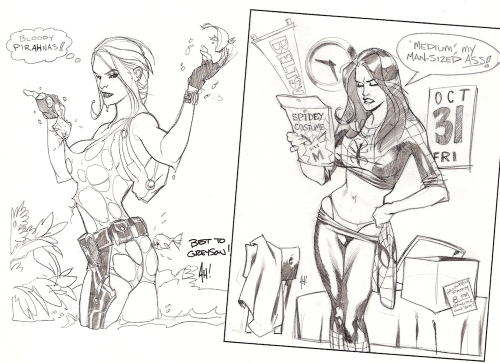 A couple of playful sketches from the book