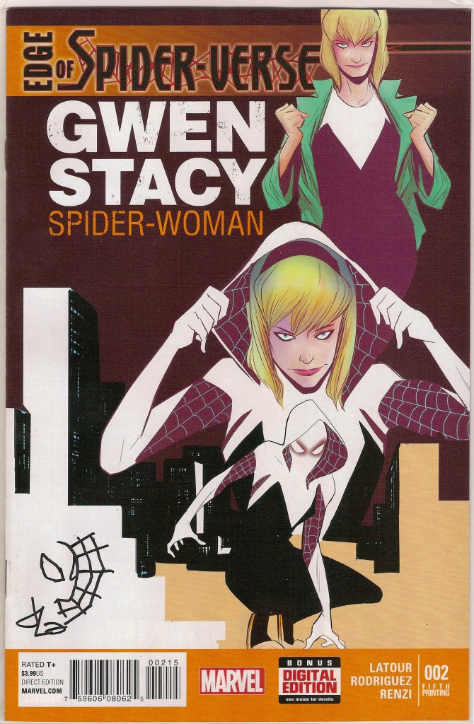 Edge of Spider-verse #2 5th Printing Signed & Doodled by Jason Latour