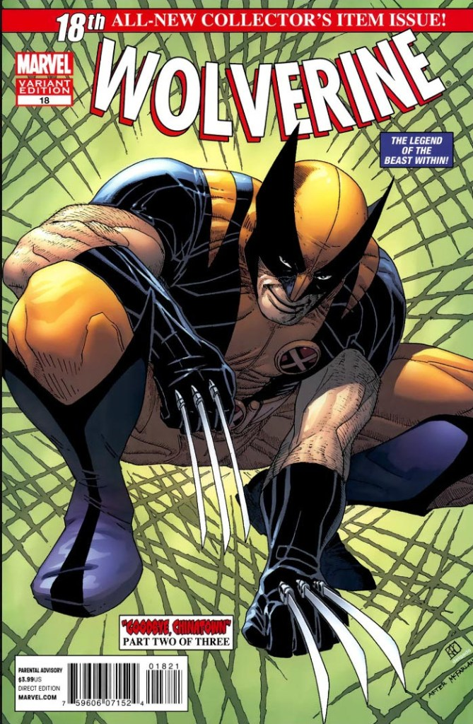 Wolverine 18 1:50 50th Anniversary cover